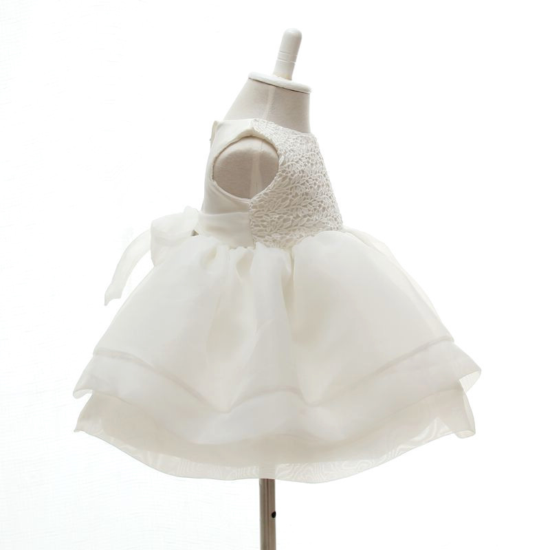 3 24 month baby girls elegant communion dresses white kids princess party wedding dress christening ball gown in dresses from mother kids on