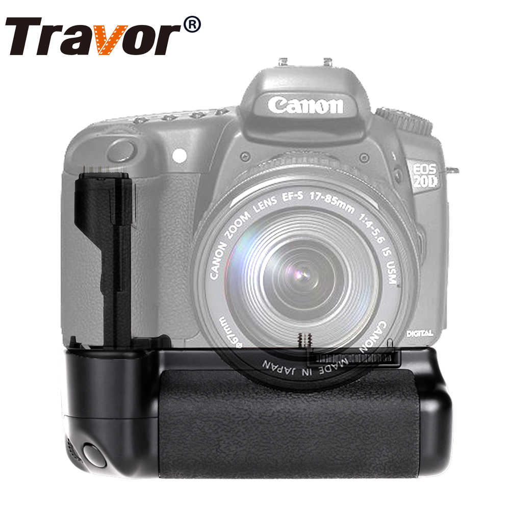 Travor Vertical Battery Grip holder for Canon 20D 30D 40D 50D DSLR Camera as BG-E2N bp 511 bp511 camera battery 1x charger for canon eos 30d 20d 10d 300d d60