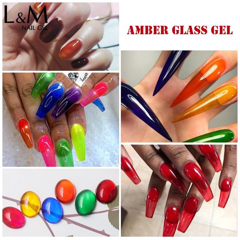 Купить ibdgel 6 шт полупрозрачные глазурь уф гель лак для ногтей 12