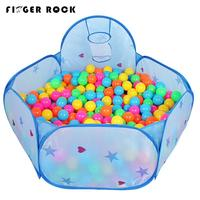 Vinger Rock 150 cm Kinderen Binnenkant Huis Spel Tenten Ster Patroon Schieten Basketbal Mand Oceaan Ballenbad Kids Buiten Huis speelgoed