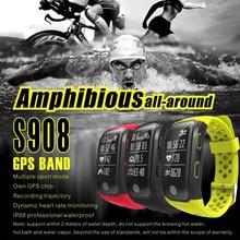 Fentorn GPS смарт-браслет S908 Поддержка Smart уведомления Обнаружение активности Шагомер сердечного ритма умный Группа фитнес трекер