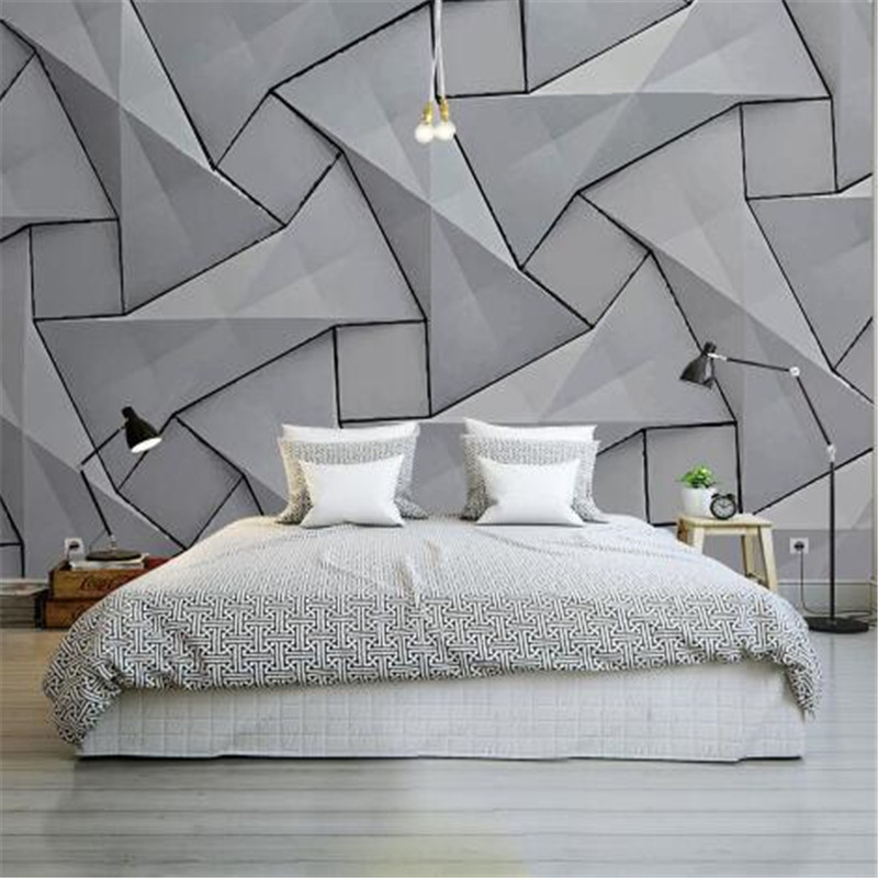 Modern 4D Wall Papers For Walls Cement Silk Cloth Wallpapers Stereoscopic Gray Mural Bedroom Living Room Decorative Wallpapers