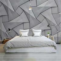 Moderne 4D Tapeten für Wände Zement Seide Tuch Tapeten Stereoskopischen Grau Wandbild Schlafzimmer Wohnzimmer Dekorative Tapeten