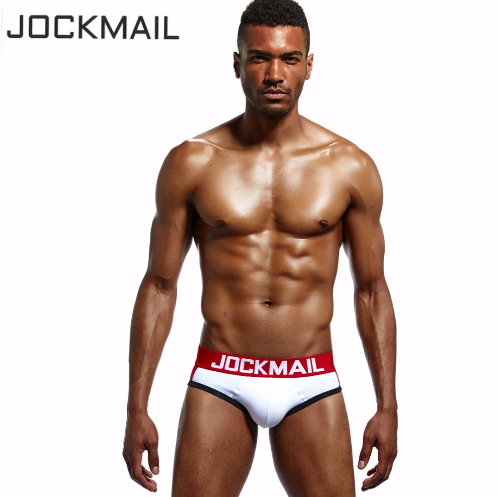 JOCKMAIL Brand 5PCS Front Sexy Push Up Cup Bulge Enhancing Mens Underwear Briefs Enhancement Sexy Gay Underwear Penis Pouch