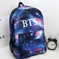 Stylish  Canvas Printing BTS Backpack Book Bag Space Shoulder Backpack Universe Escolar Bolsas Mochila Backpack Tiener Schoolbag