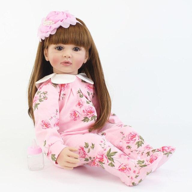 60cm Special Offer Silicone Vinyl Reborn Baby Doll Toy Princess Toddler Babies Lifelike Alive Bebe Bonecas