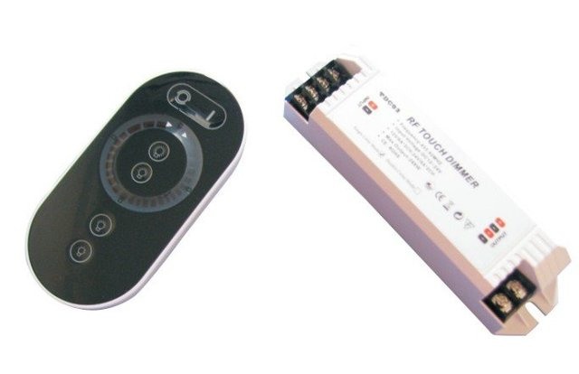 LED RF touch dimmer,DC12-24V input,8A*1 channel output(single channel);or 6A*2channel output