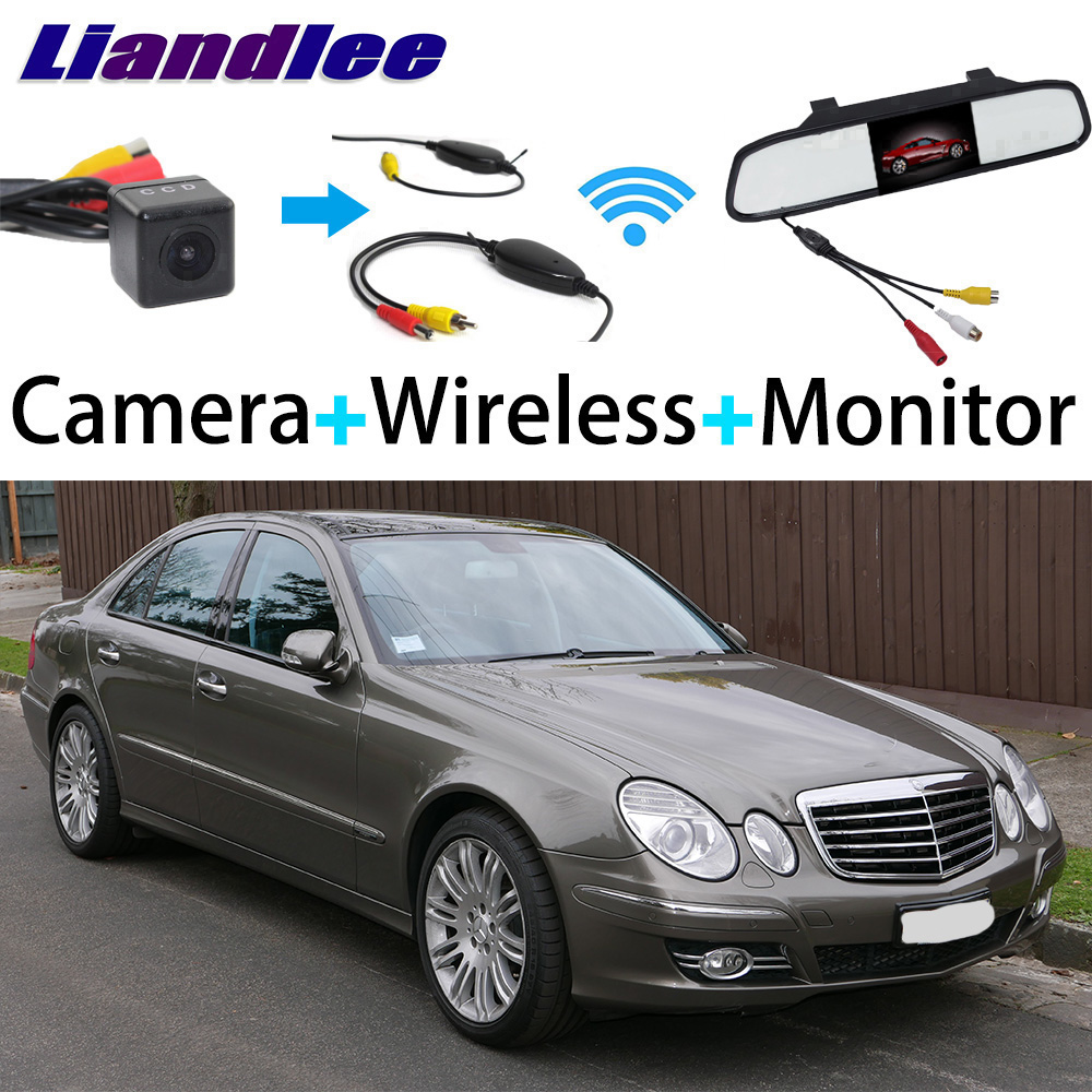 Liandlee 3in1 Wireless Receiver Mirror Monitor Special Rear View Camera For Mercedes Benz MB W211 E200 E220 E240 E280 E300 E320 бинокль levenhuk бинокль atom 8x40 67680 lev67680 href page 4 page 2 page 2 page 5