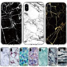 Pedra de mármore Pintado Caixa Do Telefone Para iphone 6 6 S 7 8 X XR XS MAX Soft Case TPU Capa Para iphone 6 6 S 7 8 Plus 5 5S SE 4S Casos(China)