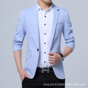 The new 2019 male leisure blazer Cultivate one's morality fashion British youth small blazer