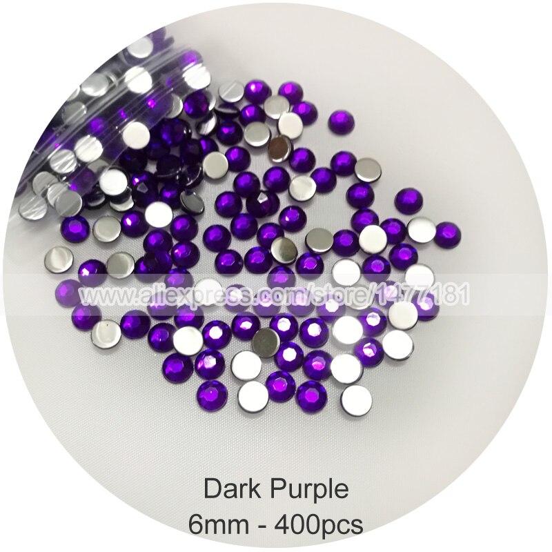 1000pcs 1mm Acrylic Flat Back Rhinestones Diamante Gems Nail DIY Light Purple