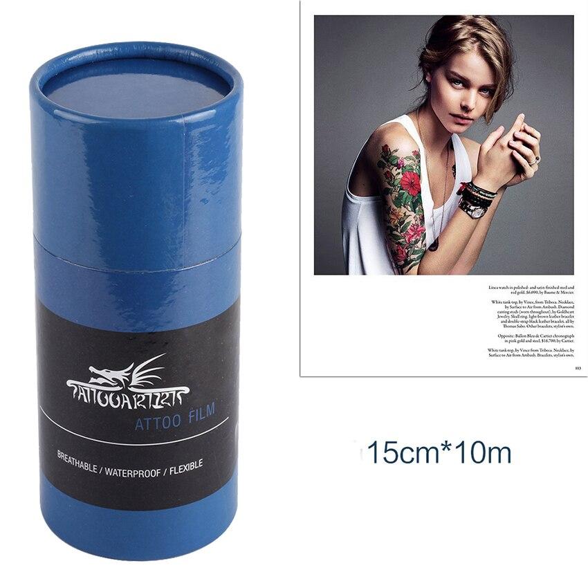10 m película protetora respirável da tatuagem após a solução da atadura da tatuagem do cuidado para as tatuagens protetoras do filme suprimentos da tatuagem acessórios