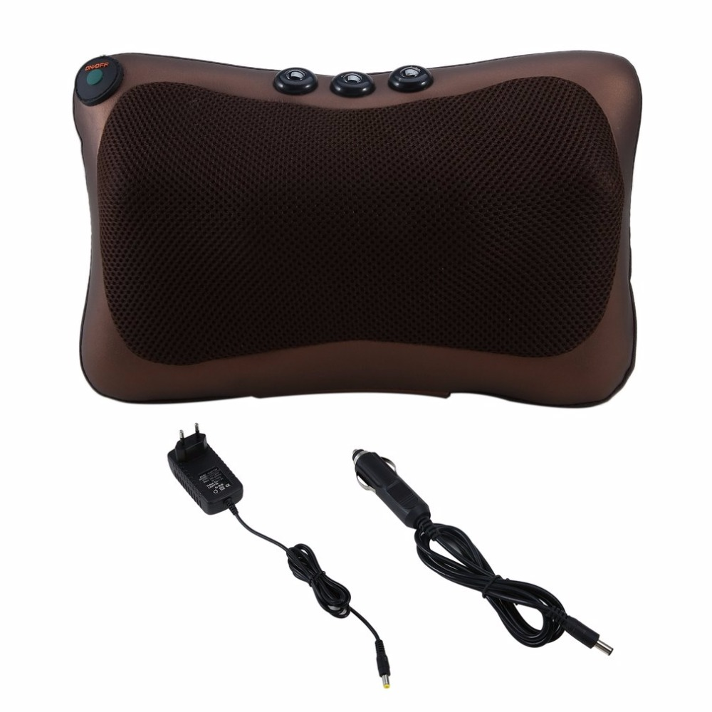 Hot Neck Massager Car Home Shiatsu Massage Neck Relaxation Back Waist Body Electric Massage Deep-Kneading Pillow Cushion New massager ergonomic design body self back hook massage stick muscle deep pressure original point body relaxation hot new page 5