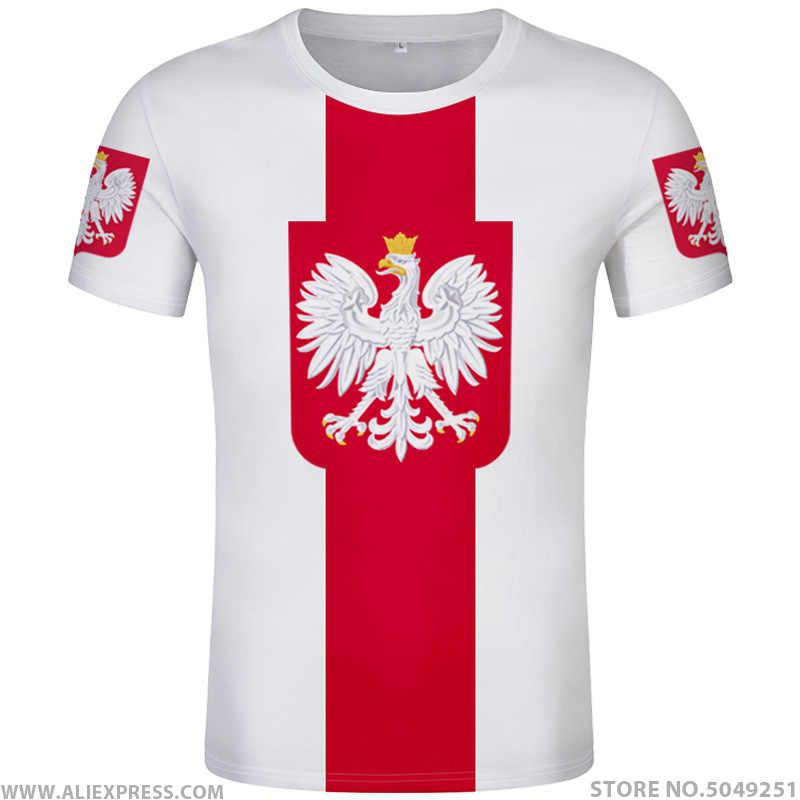 ポーランド tシャツ diy 無料カスタム名番号 pol Tシャツ国民旗 pl 共和国ポルスカポーランド国カレッジプリント写真服