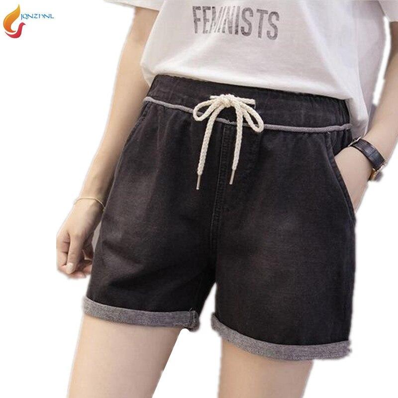 Large size women loose Elastic waist casual shorts 2019