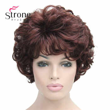 Short Soft Tousled Curls Dark Auburn Full Synthetic Wigs Women\'s Wig COLOUR CHOICES - Category 🛒 Hair Extensions & Wigs