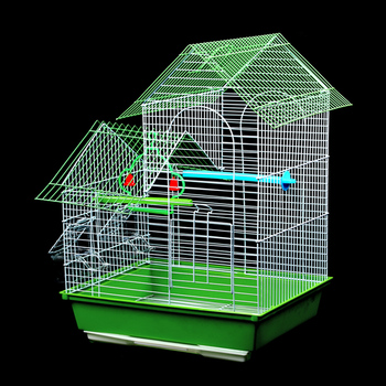 Bird Cages Houses Metal Iron Parrot Villa Cage Cockatiel Large Home Aviary Pet Carrier