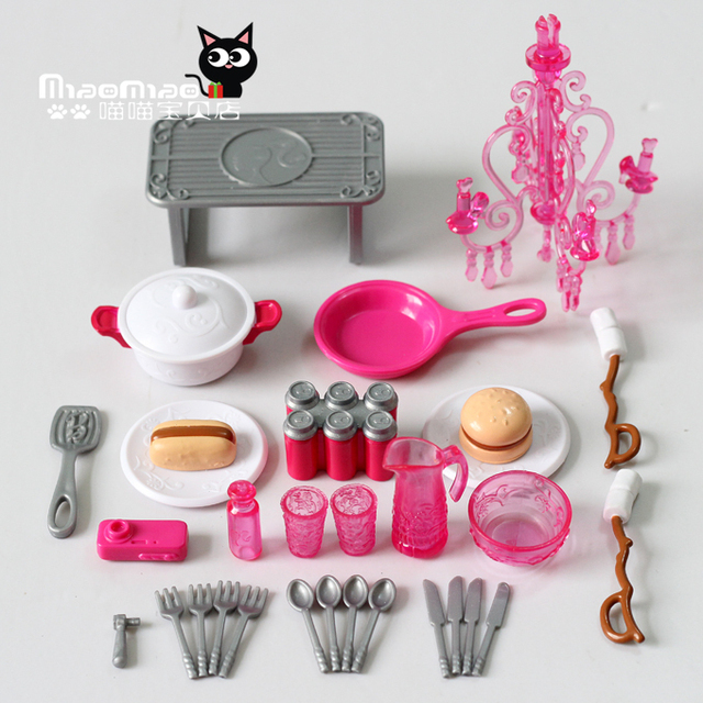 Free Shipping Doll Kitchen Sets Accessories 28items Lot Covered
