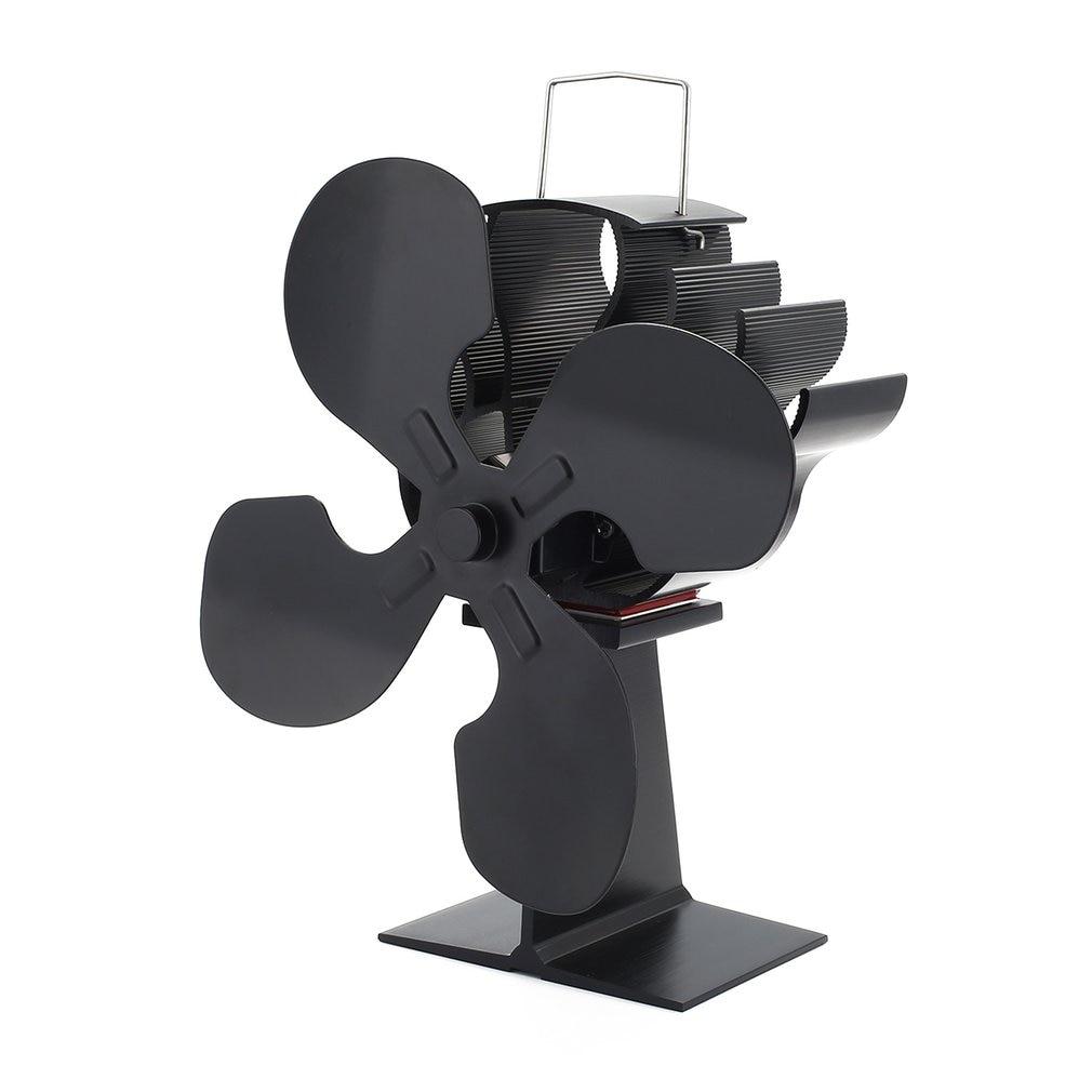 4-Blade Heat Powered Stove Fan for Wood / Log Burner/Fireplace - Eco цена и фото