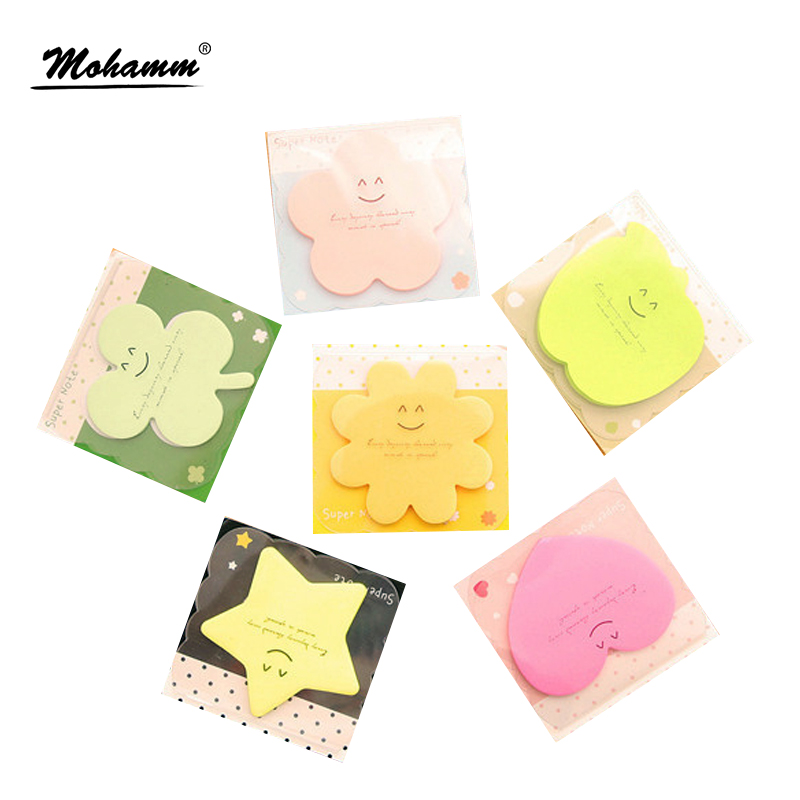 Cute Korean Kawaii Star Apple Post It Planner Stickers Memo Pad Sticky Notes Pads Stationery School Office Supplies Accessories 1pc lot cute rabbit design memo pad office accessories memos sticky notes school stationery post it supplies tt 2766