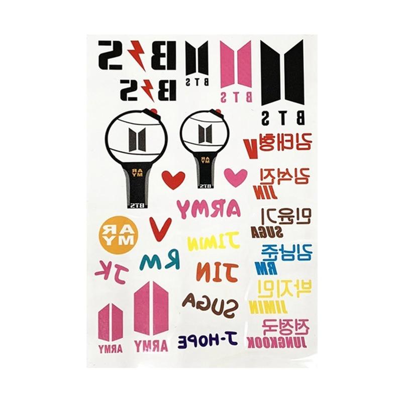 Tireless 1pc Got7 Stickers Idol Blackpink Izone Twice Seventeen Kpop Tattoo Sticker Fans Gift Party Supplies Stationery Stickers