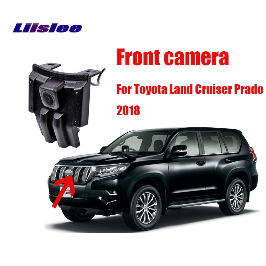 LiisLee Car Special Front HD High Quality Camera For Toyota Land Cruiser Prado 2018 Waterproof Night Vision CCD