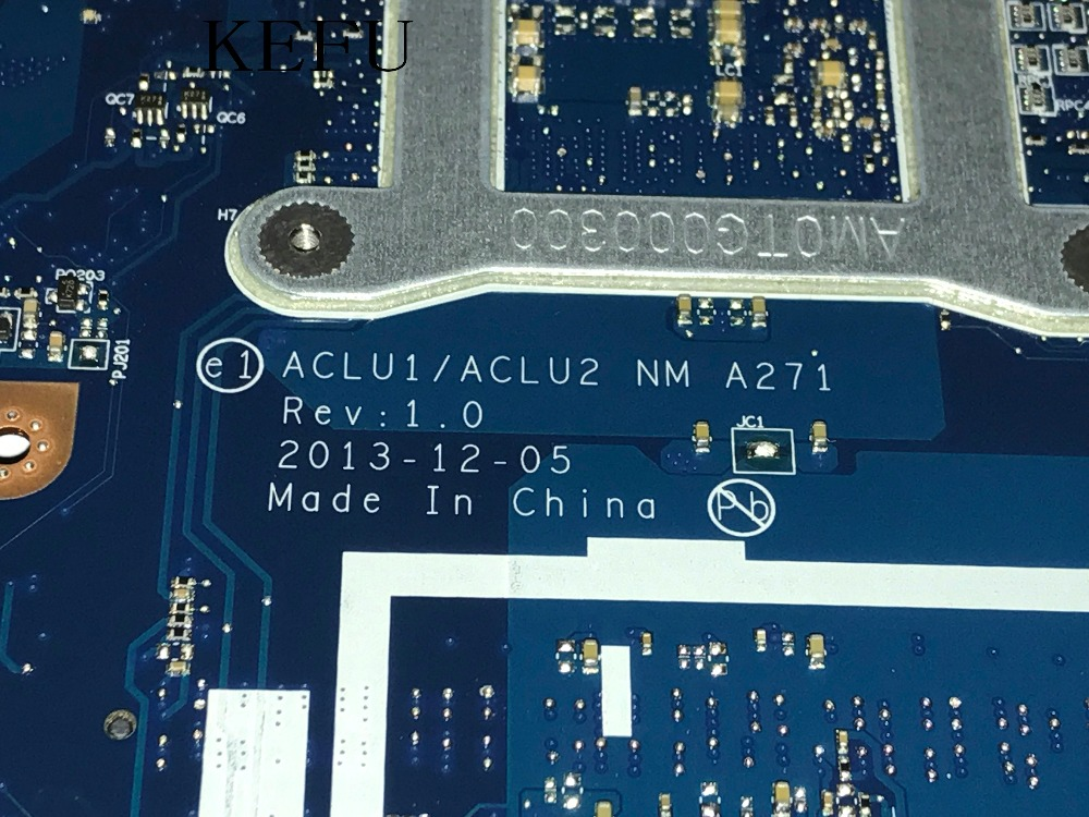 KEFU SUPER 100% NEW ACLU1/ ACLU2 NM A271 laptop Motherboard For LENOVO Z50 70 / G50 70 NOTEBOOK PC I3 CPU COMPARE BEFORE ORDER