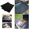 2 unids/set estera parrilla de BARBACOA parrilla de la barbacoa y hoja de cocinar y hornear y hornos microondas promoción negro