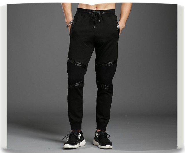 design harajuku pants streetwear fleece sweatpants Outwear Bodybuilding Pants Slim Fit design