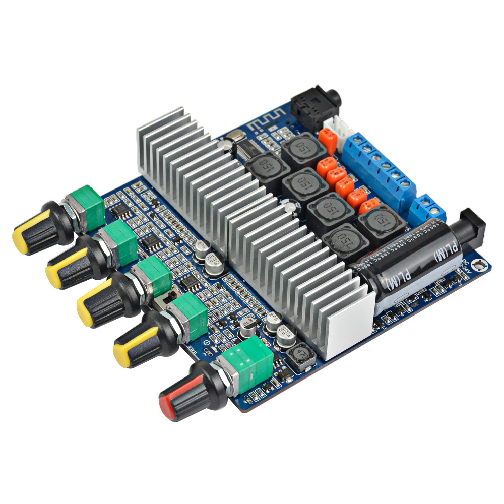 AIYIMA TPA3116D2 <font><b>2.1</b></font> <font><b>Bluetooth</b></font> Digital HIFI Amplifier Power Assembled High-power Board TPA3116 100W+2*50W Subwoofer Bass Board image