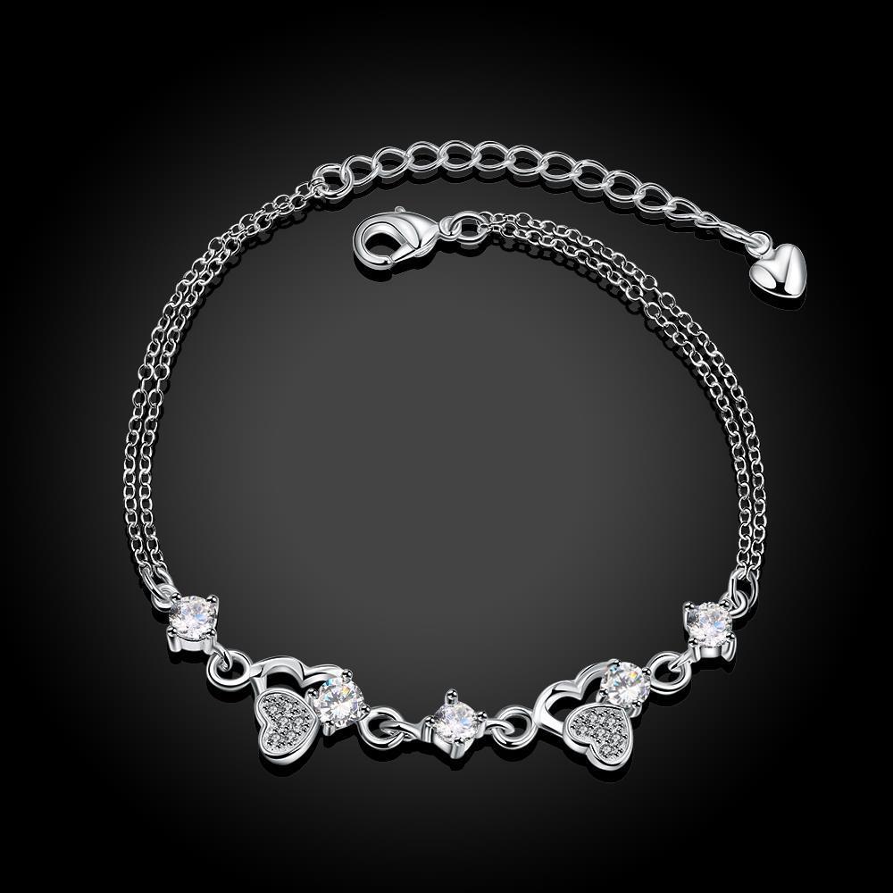 Heart Cz Zircon Bracelets for Women Bracelet Femme Pulseras Mujer Pulseira Plata Bracciali Donna Armbanden Bileklik Braslet H009