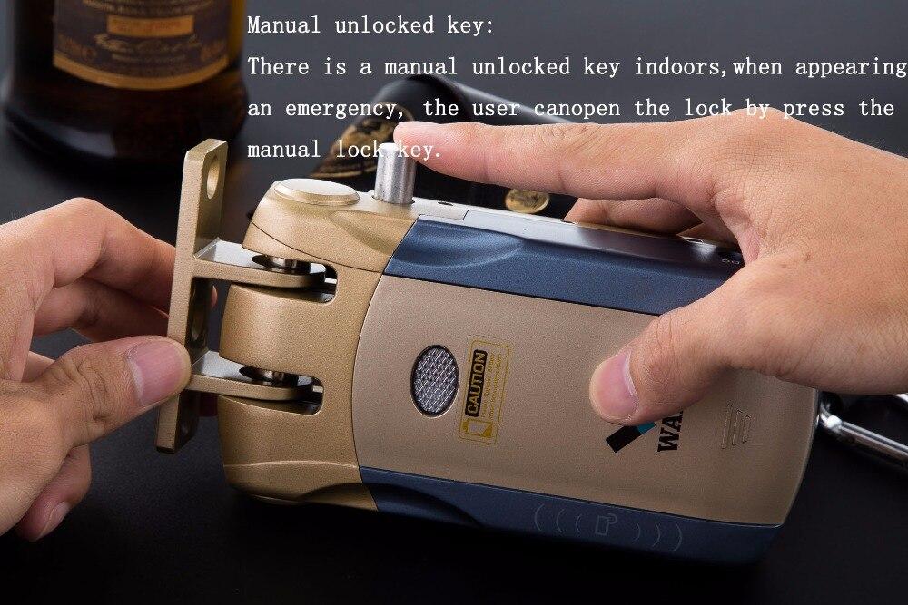 HTB1sL2Lk8DH8KJjSspnq6zNAVXa8 Wafu 010 Wireless Electronic Door Lock Keyless Invisible Intelligent Lock With Touch Locked&Unlock Button 4 Remote Control Keys