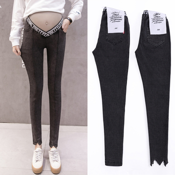 Low Waist W Leg Open Spring Belly Skinny Maternity Legging In Elastic Cotton Pencil Pregnancy Pants Clothes for Pregnant Women autumn fashion maternity legging low waist belly stretch cotton skinny pants clothes for pregnant women pregnancy wear