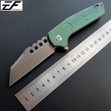 New Incoming EF333 Folding Knife Tactical Camping Knives D2 Steel Titanium Alloy Handle EDC Tools