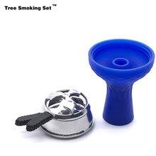 Charcoal Holder Blue Bowl Narguile Nargile Hookah Pipe Shisha Accessories Cachimba Sisha Tabacco Kaloud Boquilla TWAN0356