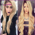 7A #1b/#613 Ombre Wigs Glueless Full Lace Human Hair Wigs natural Wave blonde Wigs Human hair Lace Front Wigs For Black Women