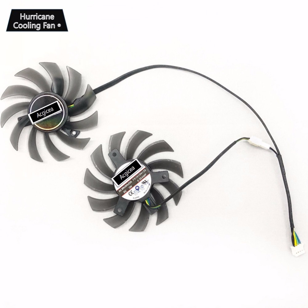 2 Pcs/lot FD7010H12S DC12V 0.35A 75mm 4Pin Graphics Card Cooler Fan for Sapphire R9 270 <font><b>GTX</b></font> <font><b>550</b></font> 750 770 <font><b>Ti</b></font> ASUS GTX760 12V 0.35A image