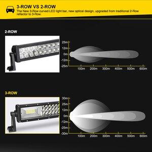 Image 3 - LED Bar for UAZ 4x4 offroad 22 32 42 inch LED Light Bar 324w 459w 594w Spotlight LED Beam 12V 24V fog headlights LED Work light