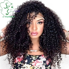 7A Jerry Curly Glueless Full Lace Wigs Virgin Brazilian Hair Wig Full Lace Front Human Hair Wigs For Black Women Bleached Knots