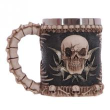 Stainless Steel 3D Skull Mugs Coffee Gothic Dinner Party Skeleton Arm Goblet Skull Chalice Claw Goblet Wine Cup