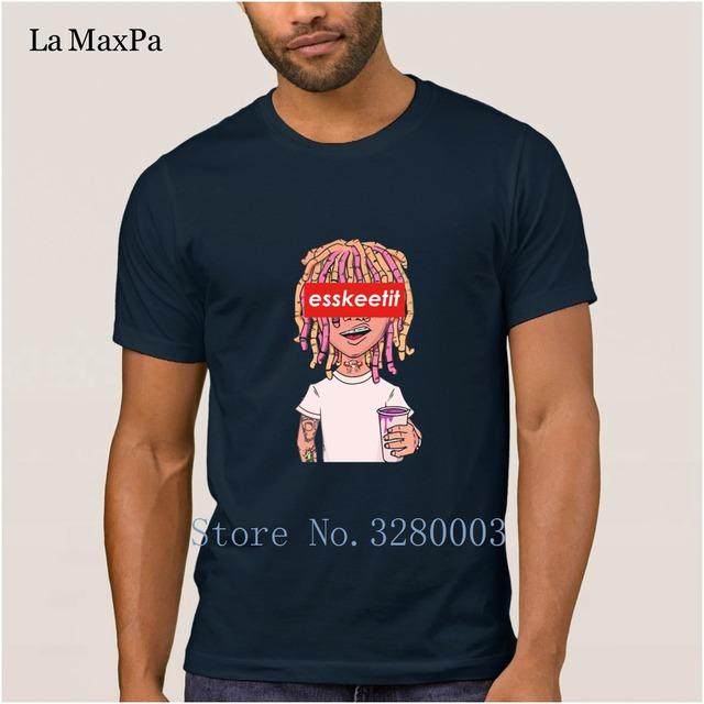 create Great men's t shirt lil pump lean cup esskeetit money rap singer t-shirt man summer Pictures men's tshirt Euro Size Fit
