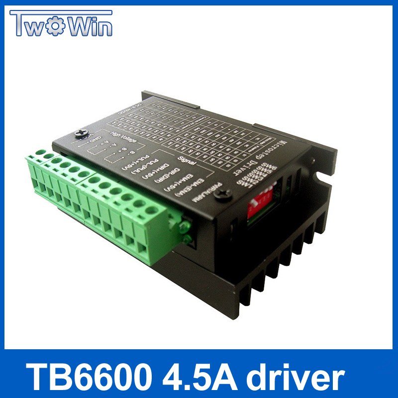купить TB6600 42/57/86 NEMA 17, NEMA 23, NEMA 34 motor driver, 4.5A 40 V 1 axis stepping motor cnc engraving machine по цене 756.13 рублей