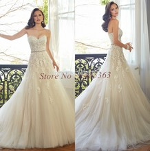 vestido de noiva Sweetheart Lace Top Fashion Bridal Gowns A Line 2015 New Arrival vestidos novia Wedding Dress