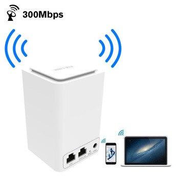 PIXLINK 300 Mbps enrutador inalámbrico/Repetidor/AP/Wps WiFi extensor de rango Mini doble red integrada con RJ45 2 puerto Wi-Fi