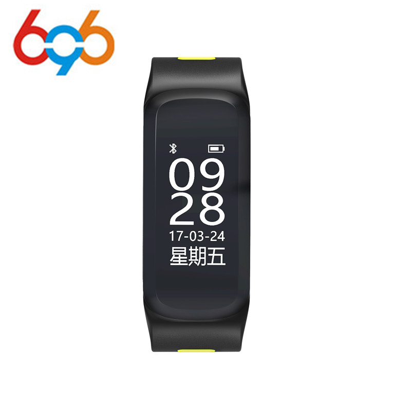 696 F4 Smart Fitness Bracelet IP68 waterproof Blood Pressure Blood Oxygen Heart Rate Monitor Smart band For IOS/Android
