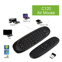 2.4Ghz Fly Air Mouse Wireless Keyboard C120 T10 gamer 3 axes Gyroscope Remote Control For android TV Box Mac MINI PC Set-Top box