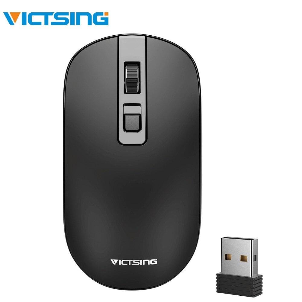 Victsing rato sem fio 1600 dpi 2.4g usb sem fio ratos óptico computador portátil mouse com receptor nano para windows mac linux