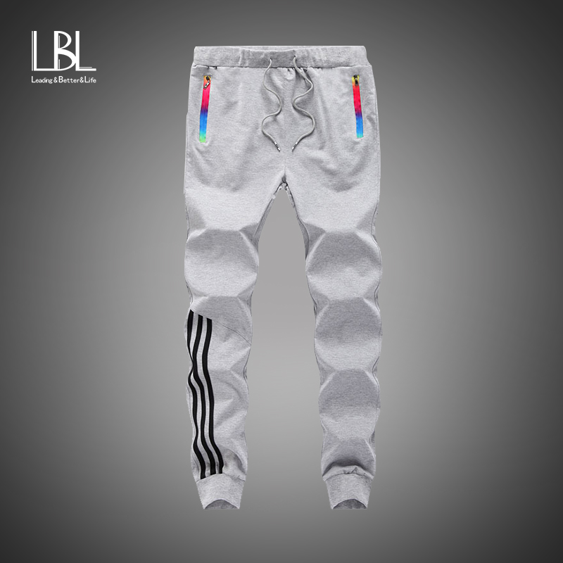 New Fashion Tracksuit Bottoms Men Casual Pants Cotton Slim Fit Sweatpants Mens Joggers Striped Pants Gyms Trousers Plus Size 5XL