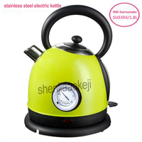 1pc Household Stainless Steel Electric Kettle With Thermometer Instant Water Boiler Water Heater 1.8L Office 220V 1850 2200w