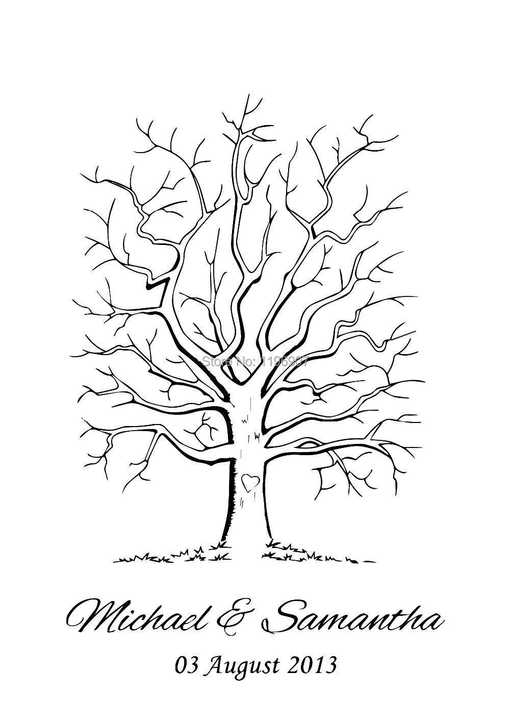 Wedding Tree Template Selol Ink